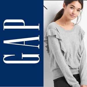 GAP Ruffle Merino Wool blend sweater size Small